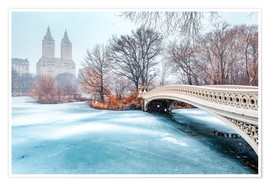 Premium-plakat Central Park Winter, Bow Bridge