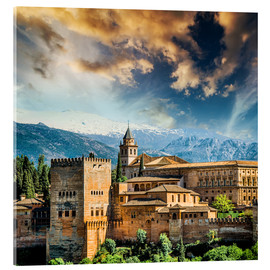 Akrylbillede  View of the famous Alhambra