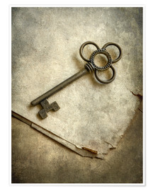Premium-plakat Still life with old ornamented key