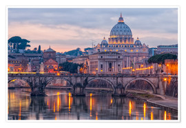 Premium-plakat The Basilica of the Vatican of St. Peter