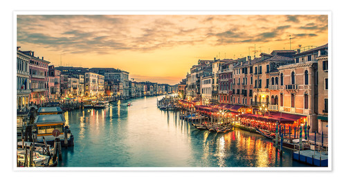 Premium-plakat Grand Canal at the blue hour
