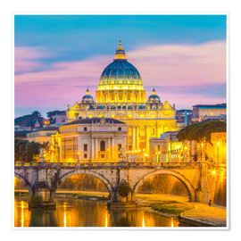 Premium-plakat Bridge of Hadrian and St. Peter's Cathedral