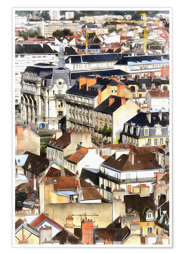 Premium-plakat Colorful painting of Dijon