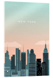 Akrylbillede  Illustration New York - Katinka Reinke