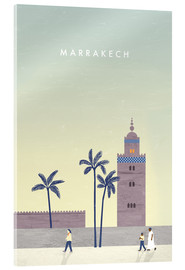 Akrylbillede  Illustration Marrakech - Katinka Reinke