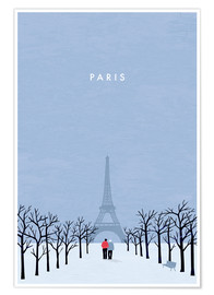 Premium-plakat Illustration Paris