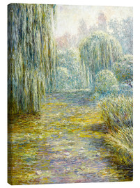 Lærredsbillede  The garden in Giverny - Blanche Hoschede-Monet