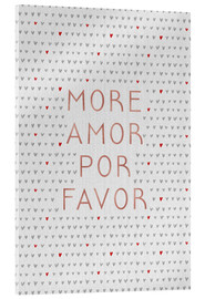 Akrylbillede  More Amor Por Favor Rose Gold - Orara Studio