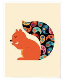 Premium-plakat  Paisley Squirrel - Andy Westface