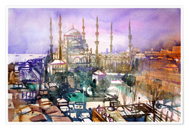 Premium-plakat Istanbul, view to the blue mosque