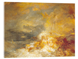 Akrylbillede  Fire at sea - Joseph Mallord William Turner