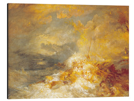Print på aluminium  A Disaster at Sea - Joseph Mallord William Turner