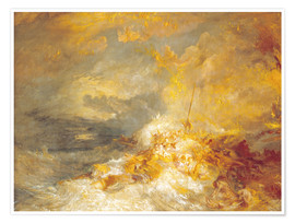 Premium-plakat  A Disaster at Sea - Joseph Mallord William Turner