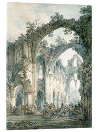 Akrylbillede  Inside of Tintern Abbey, Monmouthshire - Joseph Mallord William Turner