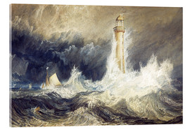 Akrylbillede  Bell Rock Lighthouse - Joseph Mallord William Turner