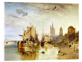 Akrylbillede  Cologne, the arrival of a post boat - Joseph Mallord William Turner