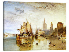 Lærredsbillede  Cologne, the arrival of a post boat - Joseph Mallord William Turner