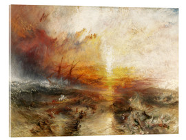 Akrylbillede  Slaveskibet - Joseph Mallord William Turner