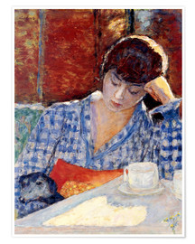 Premium-plakat Woman with a dog