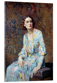 Akrylbillede  Portrait of a Lady - Albert Henry Collings