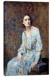 Lærredsbillede  Portrait of a Lady - Albert Henry Collings