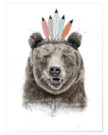 Premium-plakat Bear chief