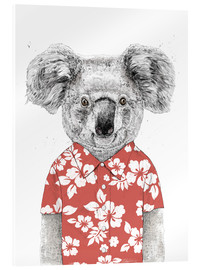 Akrylbillede  Koala bear with Hawaiian shirt - Balazs Solti