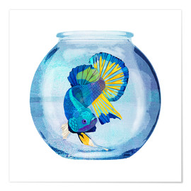 Premium-plakat Fish in the glass