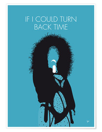 Premium-plakat If I Could Turn Back Time - Cher Minimal Music poster