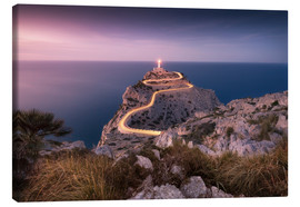 Lærredsbillede  Evening light at Cap Formentor (Mallorca / Spain) - Kristian Goretzki