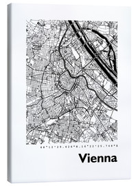 Lærredsbillede  City map of Vienna - 44spaces