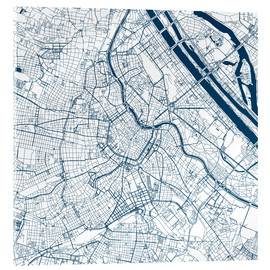 Akrylbillede  City map of Vienna - 44spaces