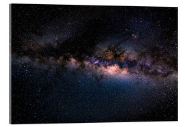 Akrylbillede  The Milky Way galaxy, details of the colorful core. - Fabio Lamanna