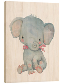 Print på træ  Min lille elefant - Kidz Collection