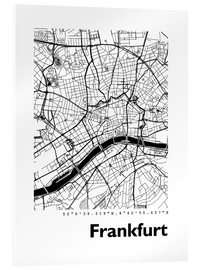 Akrylbillede  City map of Frankfurt - 44spaces