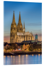 Akrylbillede  The Cologne Cathedral in the evening - Michael Valjak