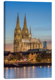 Lærredsbillede  The Cologne Cathedral in the evening - Michael Valjak
