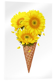 Akrylbillede  Ice cream with sunflowers - Valeriya Korenkova