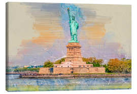 Lærredsbillede  New York Statue of Liberty - Peter Roder