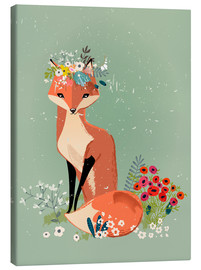 Lærredsbillede  Fox in the spring - Kidz Collection
