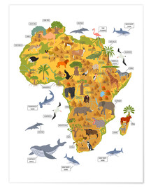 Premium-plakat  African animals - Kidz Collection