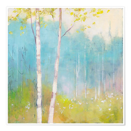 Premium-plakat Young trees in the spring I