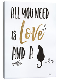 Lærredsbillede  All you need is love and a cat - Veronique Charron