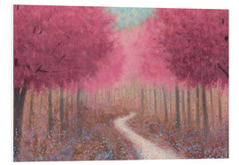 Print på skumplade  Forest road in the spring - James Wiens