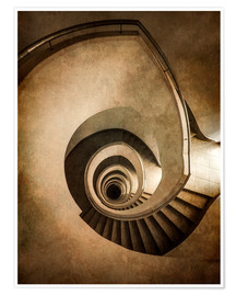 Premium-plakat Spiral staircase in brown colors