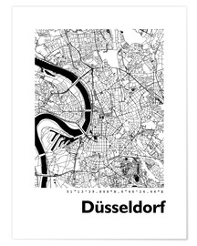 Premium-plakat  City map of Dusseldorf - 44spaces