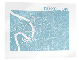 Akrylbillede  City map of Dusseldorf - 44spaces
