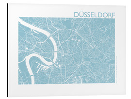 Print på aluminium  City map of Dusseldorf - 44spaces