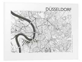 Print på skumplade  City map of Dusseldorf - 44spaces