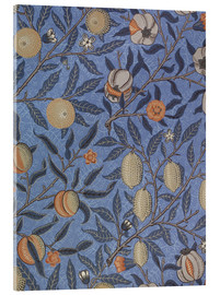 Akrylbillede  Fruit or Pomegranate (blue) - William Morris
